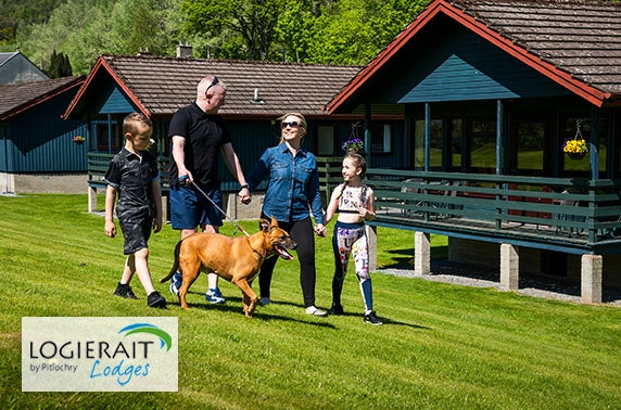 Logierait Lodges break – from £15pppn