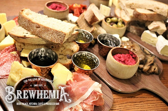 Brewhemia sharing boards & cocktails or gin flights