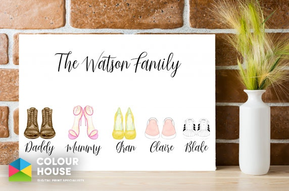 Personalised canvas from £7