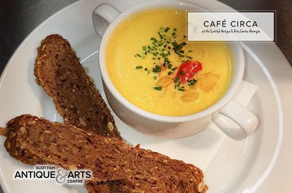 Café Circa dining at Scottish Antique & Arts Centre, Abernyte