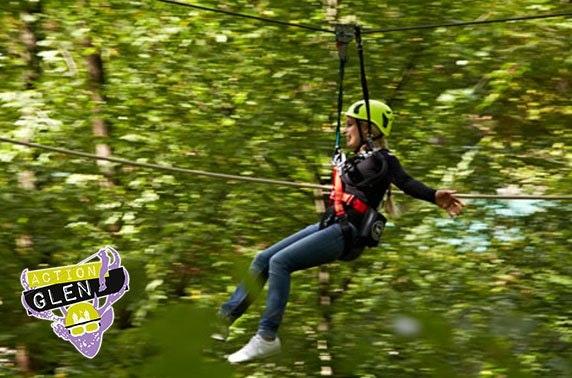 Crieff Hydro's Action Glen, aerial or quad biking adventure