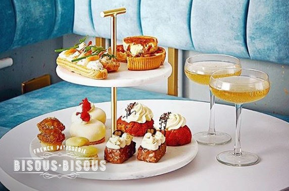 Champagne afternoon tea; Bisous Bisous, Chorlton