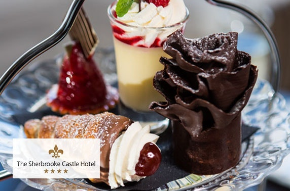 4* Sherbrooke Castle - Prosecco afternoon tea