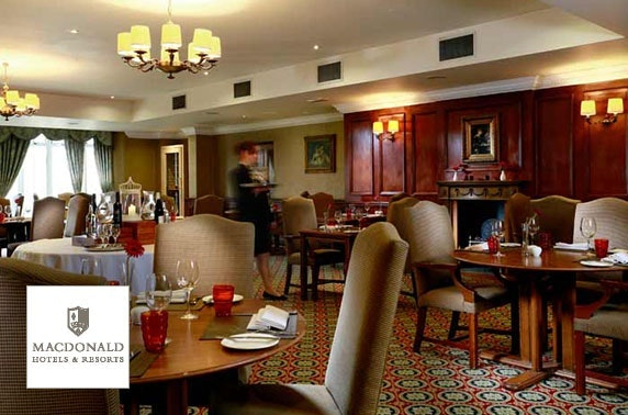 4* Macdonald Crutherland House Hotel, Scottish afternoon tea