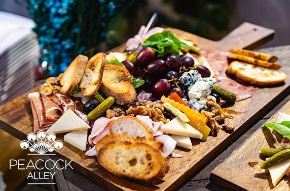 5* Waldorf Astoria sharing board & wine