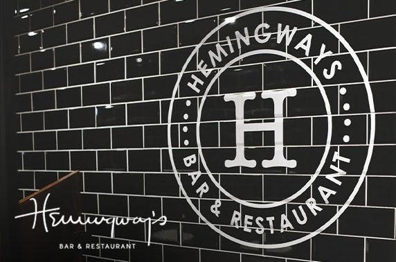 Hemingway's Edinburgh, food & drink voucher spend