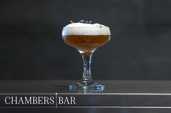 Newly-launched Chambers Bar cocktails and snacks