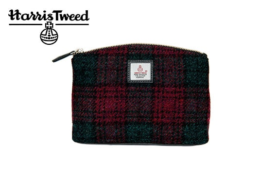 Harris Tweed cosmetic bag