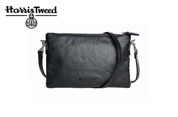 Harris Tweed zip purse bag