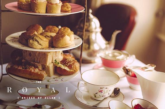 Afternoon tea at The Royal Hotel, Bridge of Allan