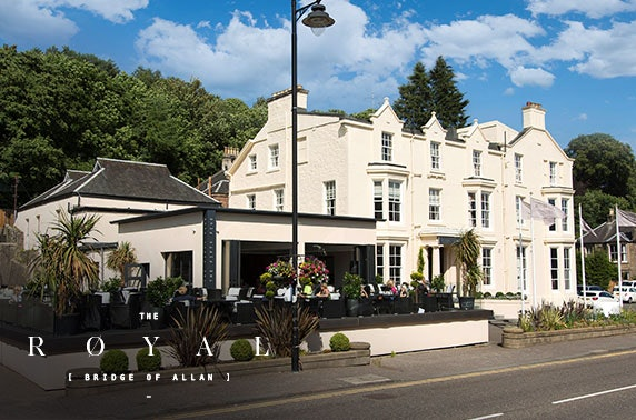 Overnight at The Royal Hotel, Bridge of Allan