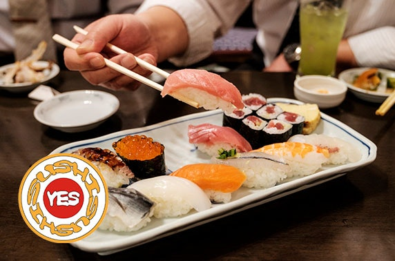 Sushi tasting menu & drinks - £10pp