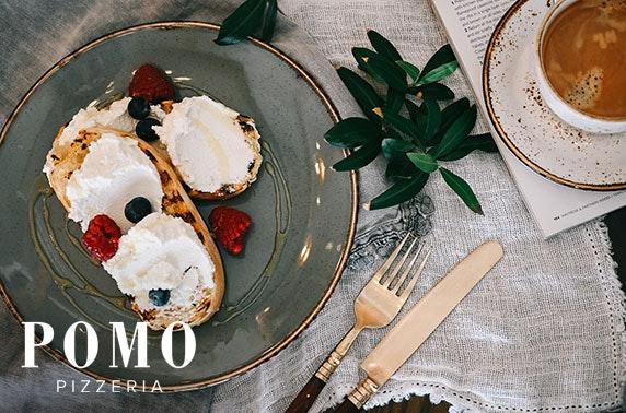 Newly-opened Pomo Pizzeria breakfast voucher
