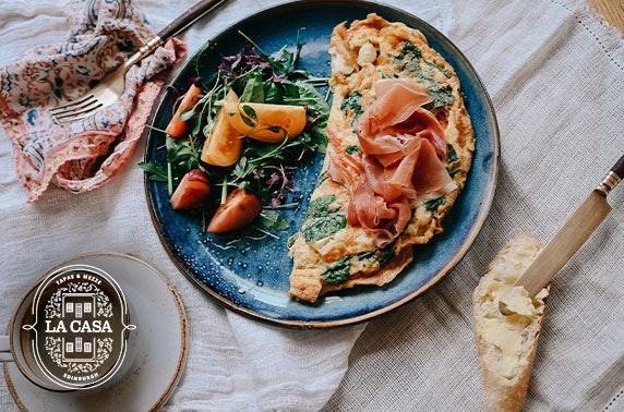 La Casa breakfast voucher