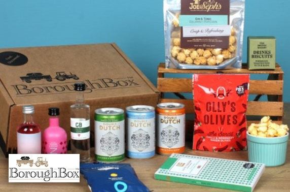 BoroughBox Prosecco or pink gin gift boxes