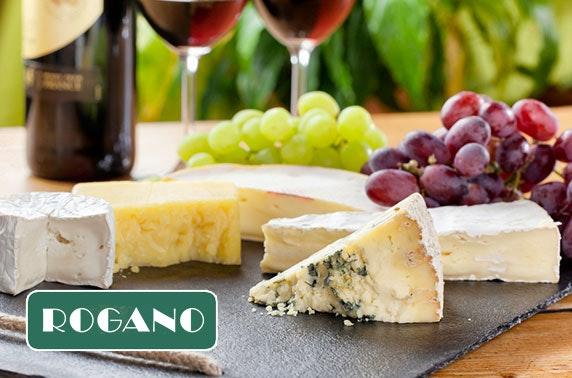 Rogano cheese and wine - £9pp