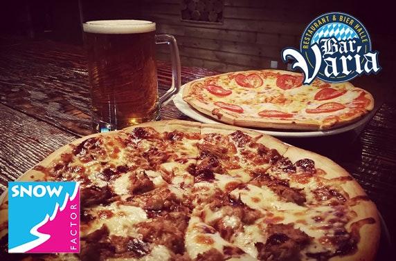 Bar Varia dining, Snow Factor - £5pp