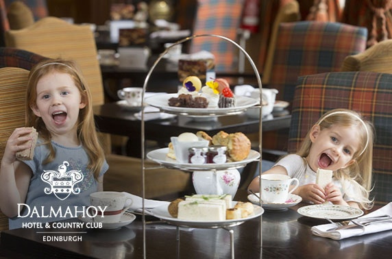 Family afternoon tea at 4* Dalmahoy Hotel, valid 7 days