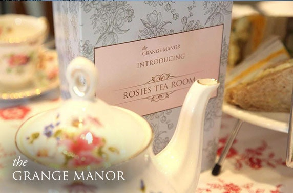 4* Grange Manor Hotel afternoon tea