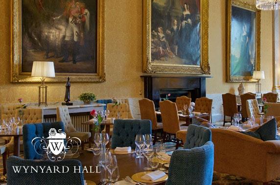 4* Wynyard Hall spa treatment & afternoon tea