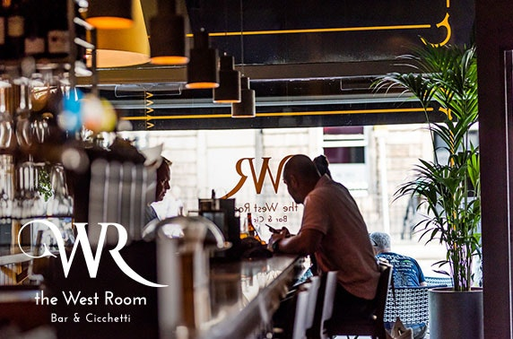 Italian tapas feast at The West Room - from £8pp