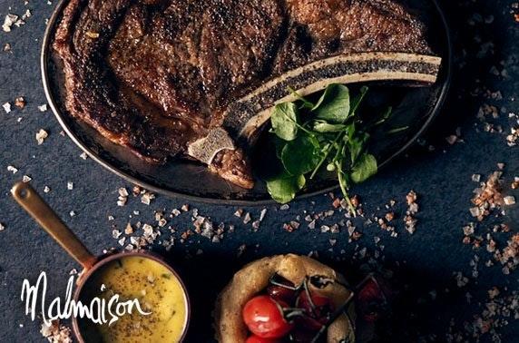 4* Malmaison Dundee dining & Prosecco