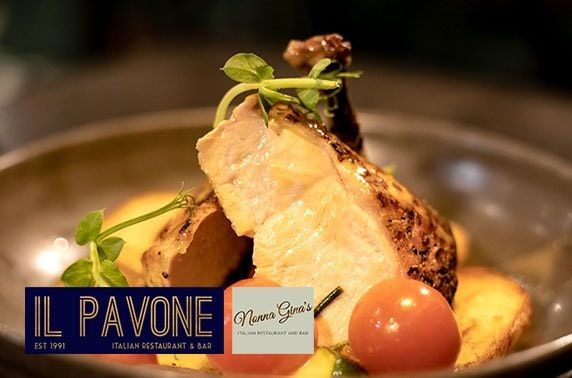 Il Pavone or Nonna Gina's Italian dining and Prosecco