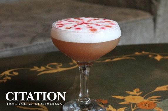 Citation drinks & nibbles – valid 7 days