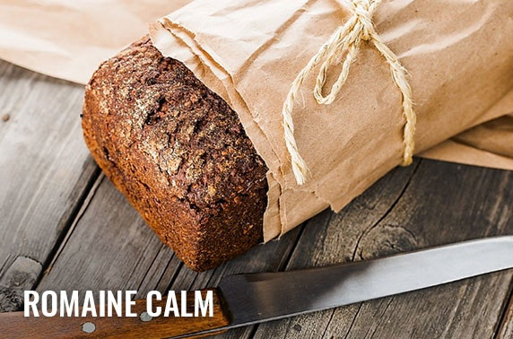 Fresh produce box including fruit, veg, milk, eggs and freshly baked bread from Romaine Calm