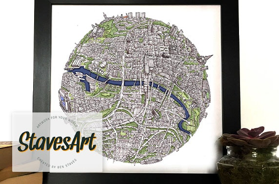 StavesArt globe print - inc. free UK shipping