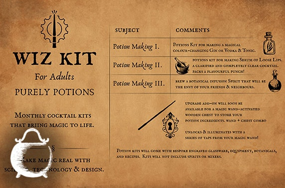 Magic wand making kit or adult potions kit