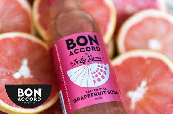 Multi-award-winning Bon Accord Soft Drinks tonic or soda, inc P&P