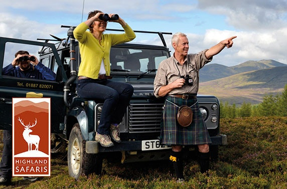 5* Highland Safaris in Aberfeldy - valid until summer 2021!