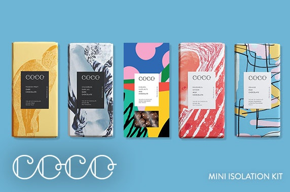 COCO Chocolatier; chocolate bars or isolation kit