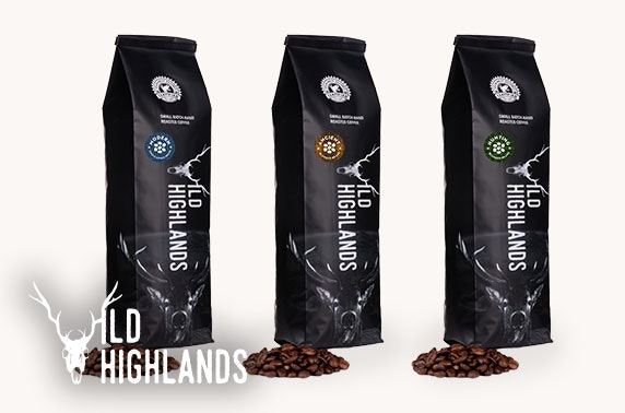 Wild Highlands Coffee packs - from £7 each