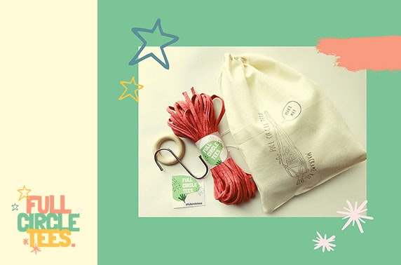 Create your own macrame plant hanger kit