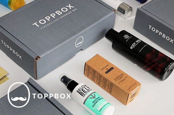 Men's personalised grooming box