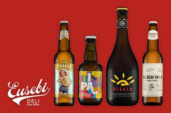 Italian artisan beers from Eusebi Deli