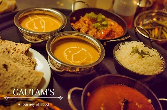 Indian takeaway feast for two
