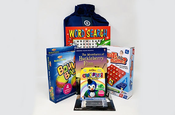 Kids activity pack from Timeout Bags - choose from girls, boys or unisex