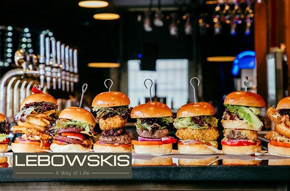 Takeaway burgers from Lebowskis West, Finnieston