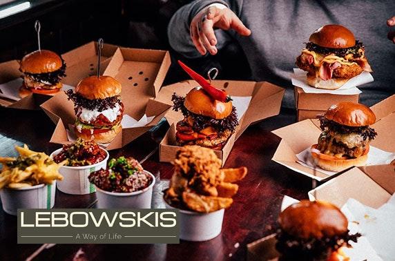 Takeaway burgers from Lebowskis West, Finnieston