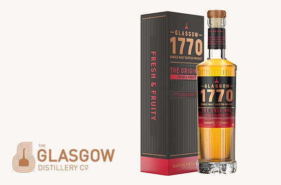 Multi-award winning whisky from The Glasgow Distillery Company; includes P+P