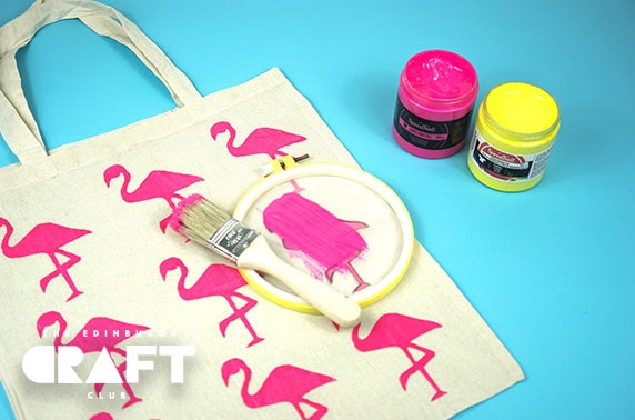 Screen printing workshop & materials
