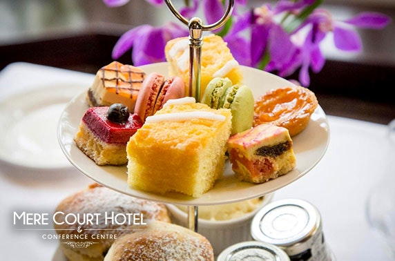 Afternoon tea at AA Rosette-awarded 4* Mere Court Hotel