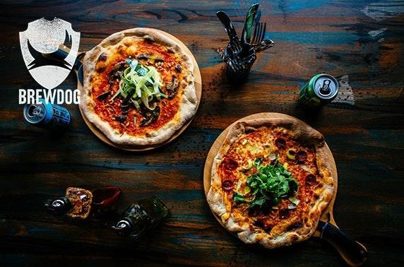 BrewDog Perth takeaway pizza & wine or beers