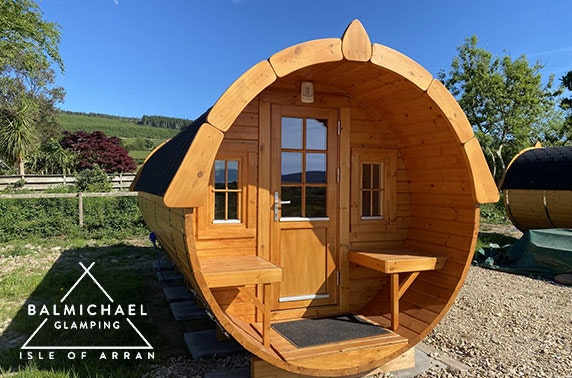 Brand new Isle of Arran glamping