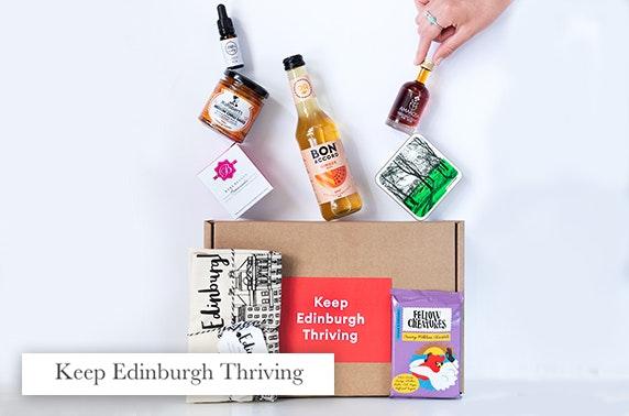 Keep Edinburgh Thriving gift box