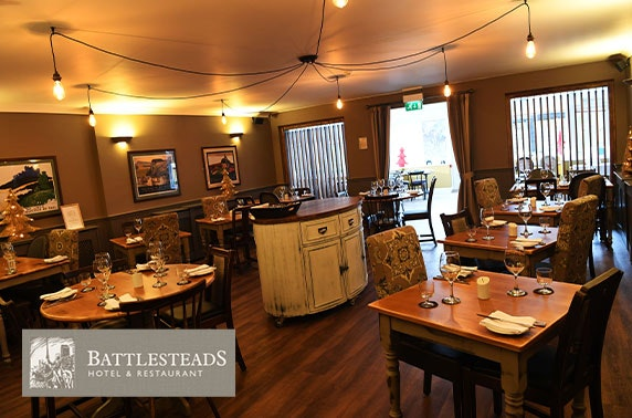 Tasting menu at award-winning Battlesteads Hotel & Restaurant