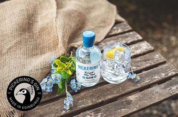 Forget Me Not gin and sanitiser pack from Pickering's Gin
